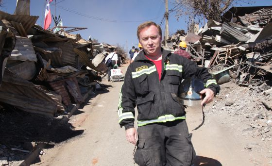 Miguel Aguilar Alveal, bombero voluntario chileno