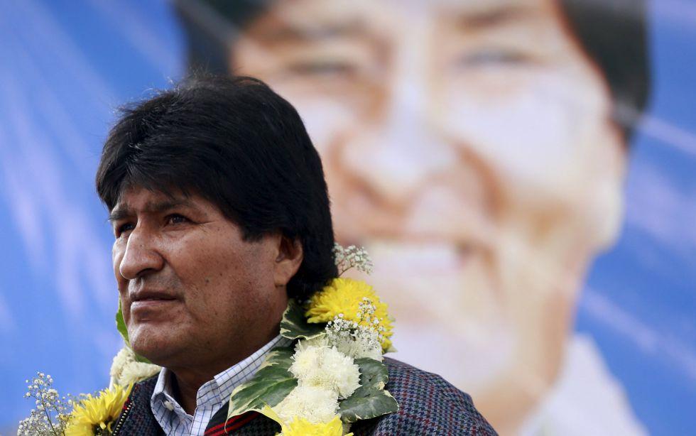 El presidente boliviano, Evo Morales, el pasado lunes en la localidad de El Alto.