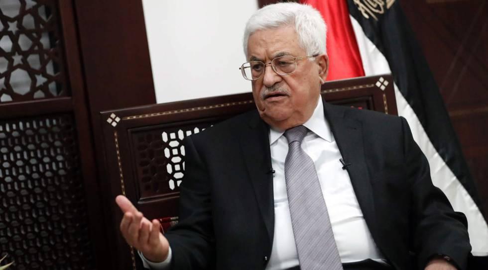 El presidente palestino, Mahmud Abbas, el lunes en Ramala
