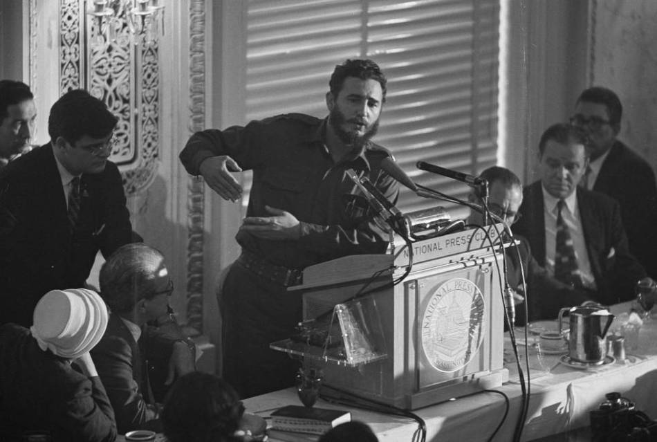 Castro, en su discurso en el Club Nacional de Prensa, en Washington el 20 de abril de 1959