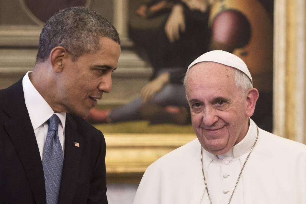 Visita de Barack Obama a Francisco en Roma el 27 de marzo de 2014.