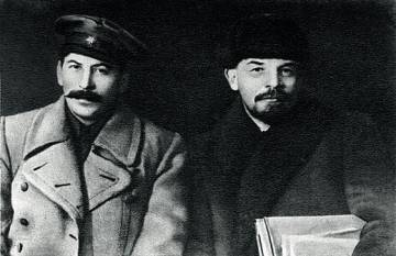 Iósif Stalin y Vladimir Lenin, en 1919.