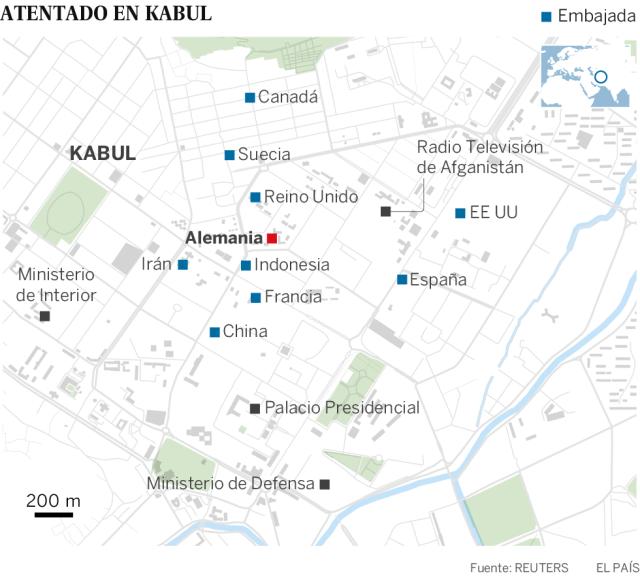 Al menos 80 muertos y 350 heridos por un camión bomba en el barrio diplomático de Kabul