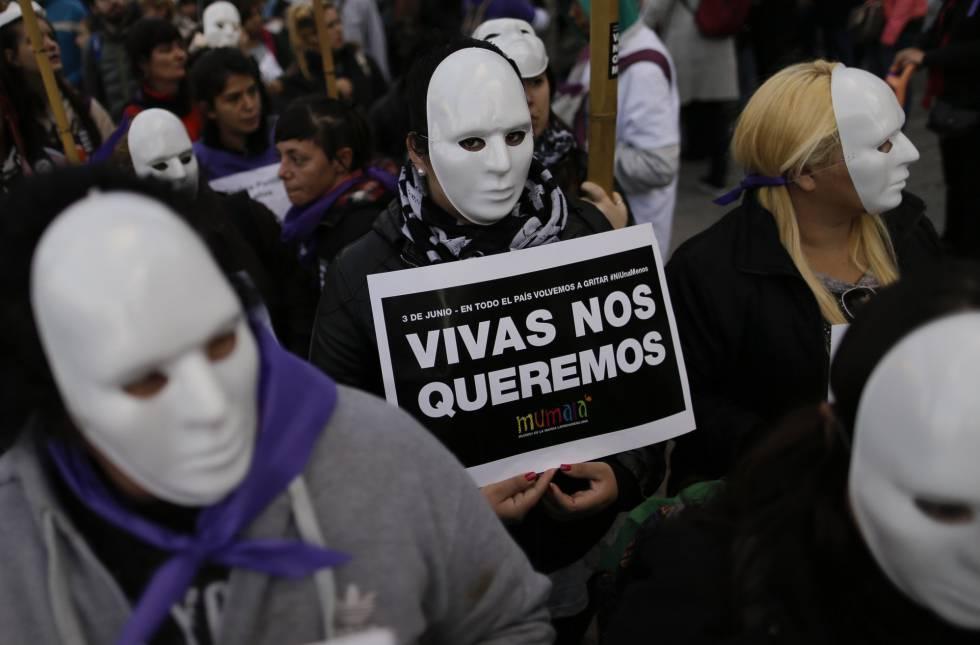 """""""Vivas nos queremos"""", una de las consignas más escuchadas en la marcha."""