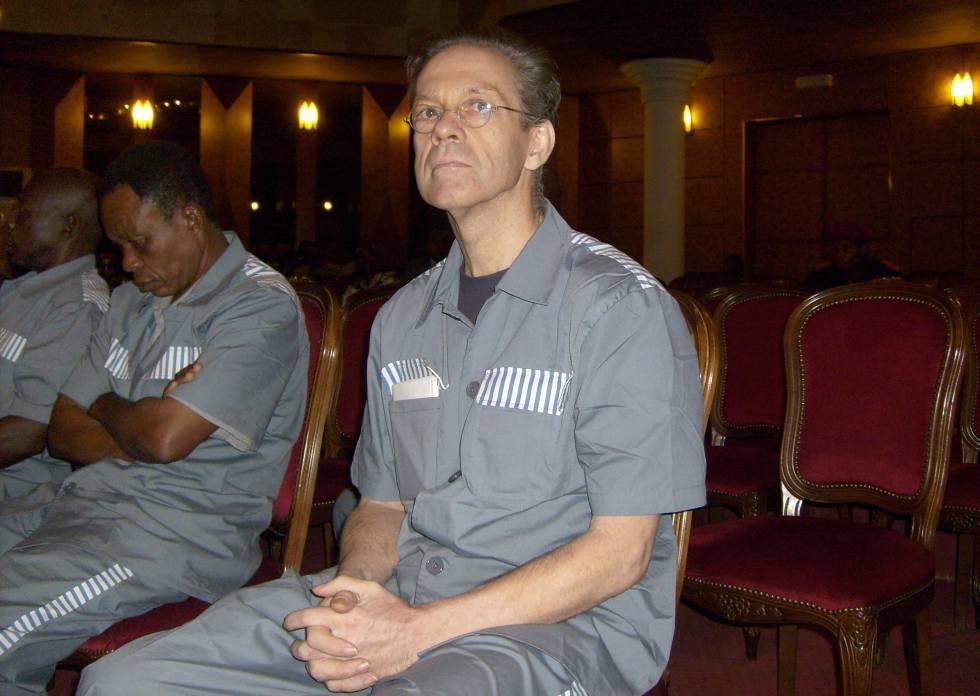 Mann, en el juicio en Malabo en 2008 en el que fue condenado por intentar derrocar a Obiang.
