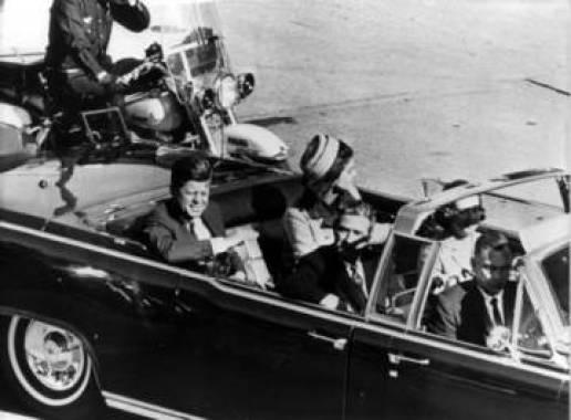 Kennedy, momentos antes de los disparos.