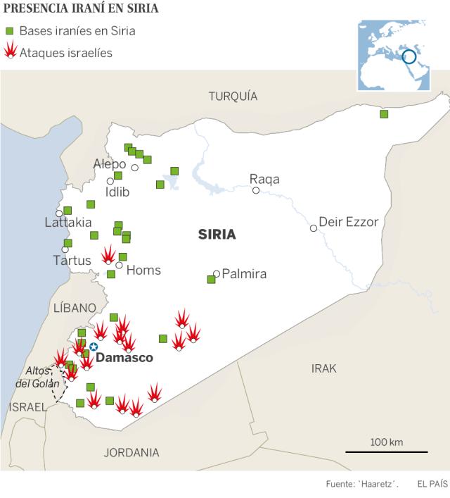 Israel lanza un ataque de represalia a gran escala contra objetivos iraníes en Siria