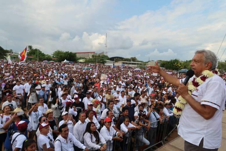 López Obrador, ante simpatizantes del Estado de Oaxaca.