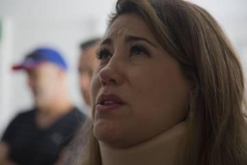 Una de las supervivientes del accidente aéreo en Durango, Tely Nagle-Rivera, explica lo ocurrido a sus familiares