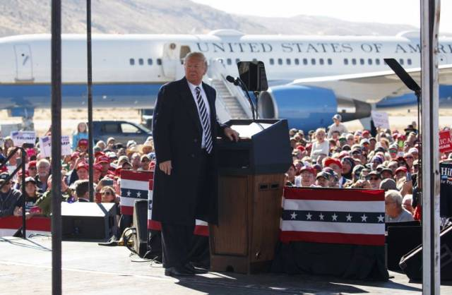 Trump, el 20 de octubre, en un mitin en Elko, Nevada