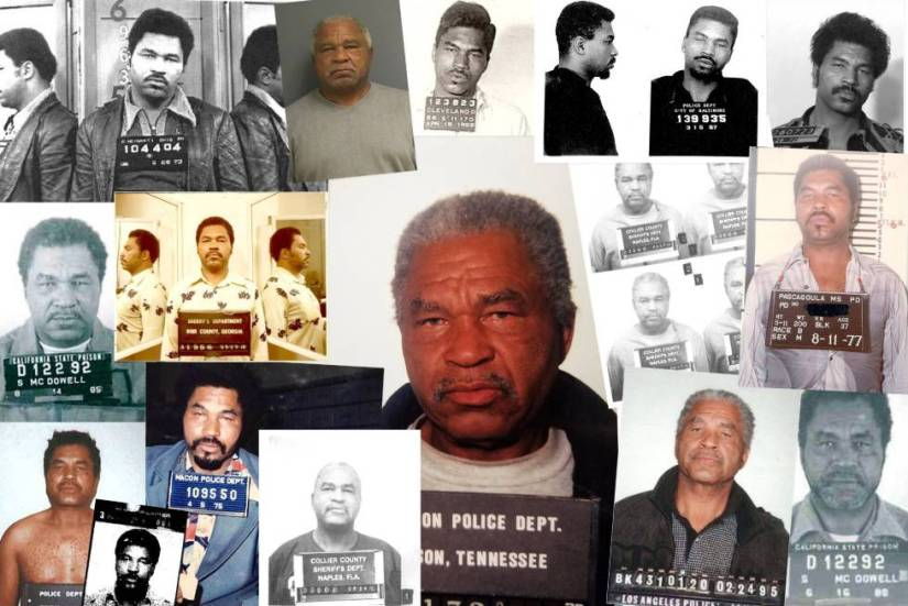 Montage of police photos of Litlle made by the FBI.