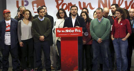 El líder Unidad Popular-Izquierda Unida, Alberto Garzón