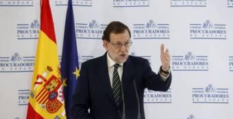 Mariano Rajoy, este jueves en un acto.