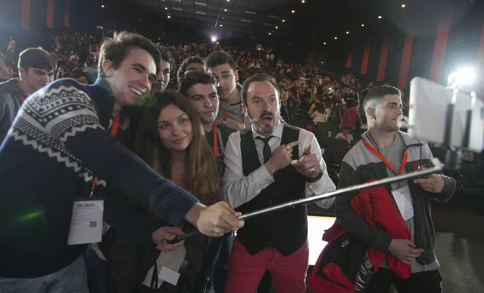 Estudiantes en 'EL PAÍS con tu futuro'.