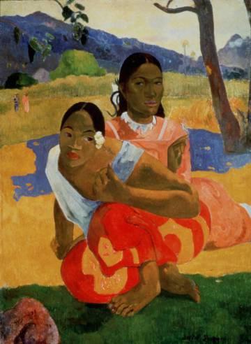 'Nafea Faa Ipoipo'. ('¿Cuándo te casas?'), pintado por Gauguin en 1892.