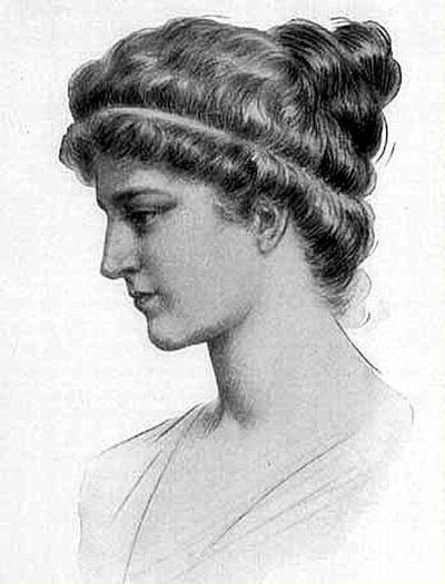 Dibujo de Hypatia de Alejandría.