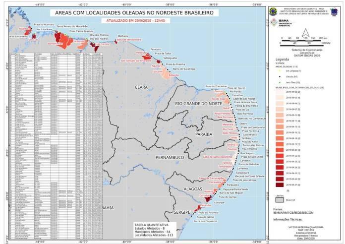 Brasil recoge en sus playas más de 100 toneladas de crudo de origen desconocido