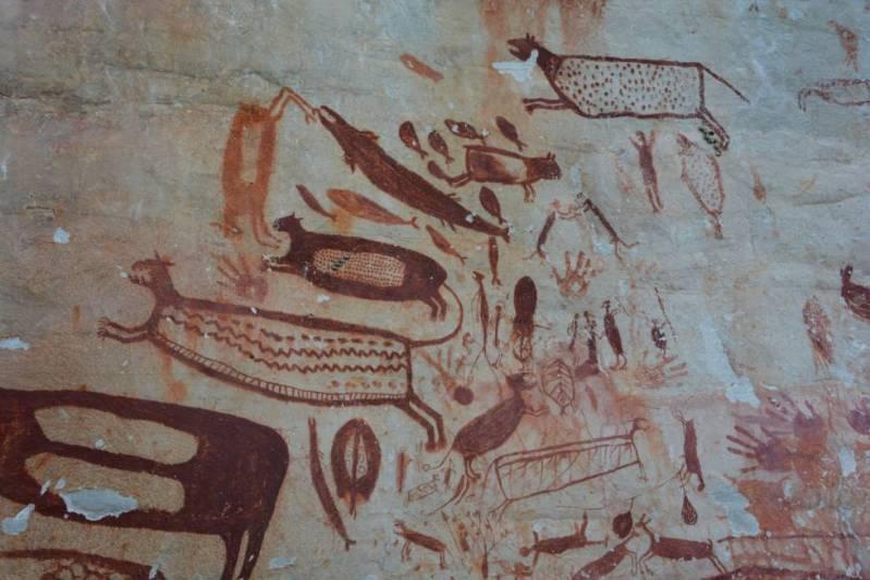 Muchas de las pinturas de Chiribiquete están dedicadas al jaguar.