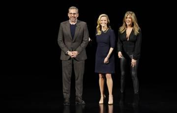 Steve Carell, Reese Witherspoon y Jennifer Aniston, en el evento de hoy.