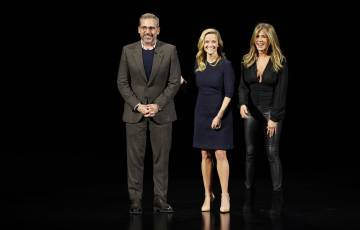 Steve Carell, Reese Witherspoon y Jennifer Aniston, en el evento de hoy.