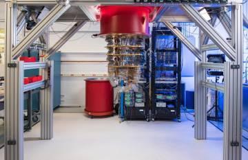 Uno de los ordenadores cuánticos de Google en Santa Bárbara.