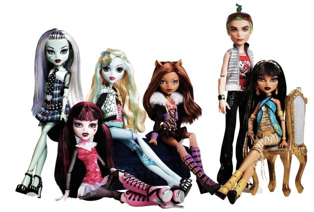 Monster High, de Mattel, los juguetes más vendidos en 2011 y 2012.