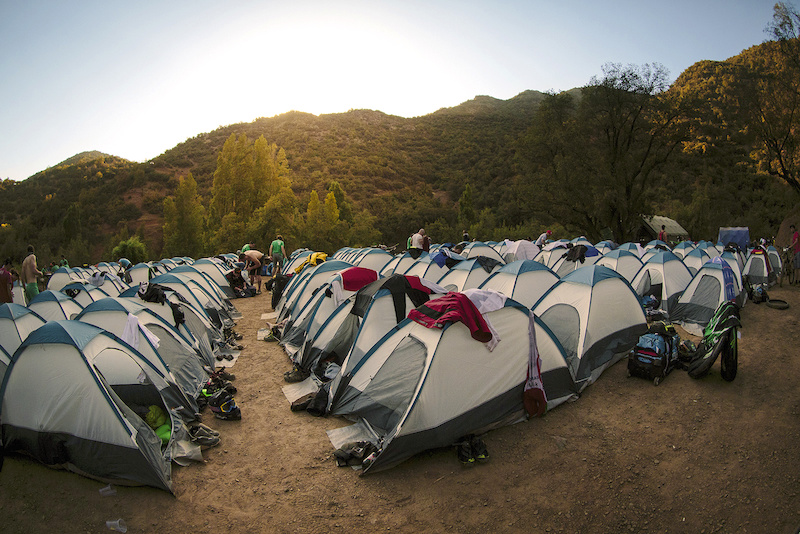 This was our moving village for the four days during the Andes Pacifico. Each competitor was assigned to their own tent.