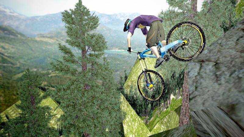shred extreme mountainbiking game