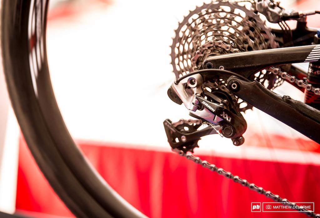 SRAM XX1 out back on Kulhavy s bike.