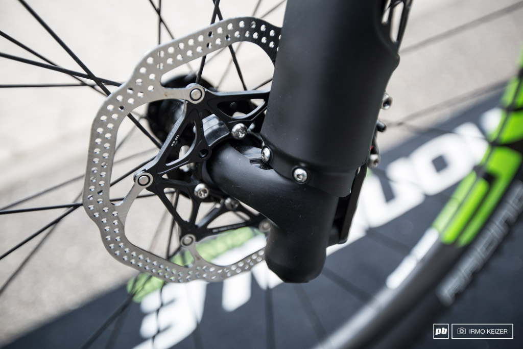 Cannondale s new Lefty used on the brand new F-Si hard tail got a slightly longer offset.