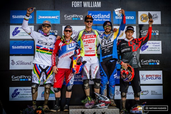 The first ever downhill World Cup podium for Colombia and the first ever for a Norco rider.