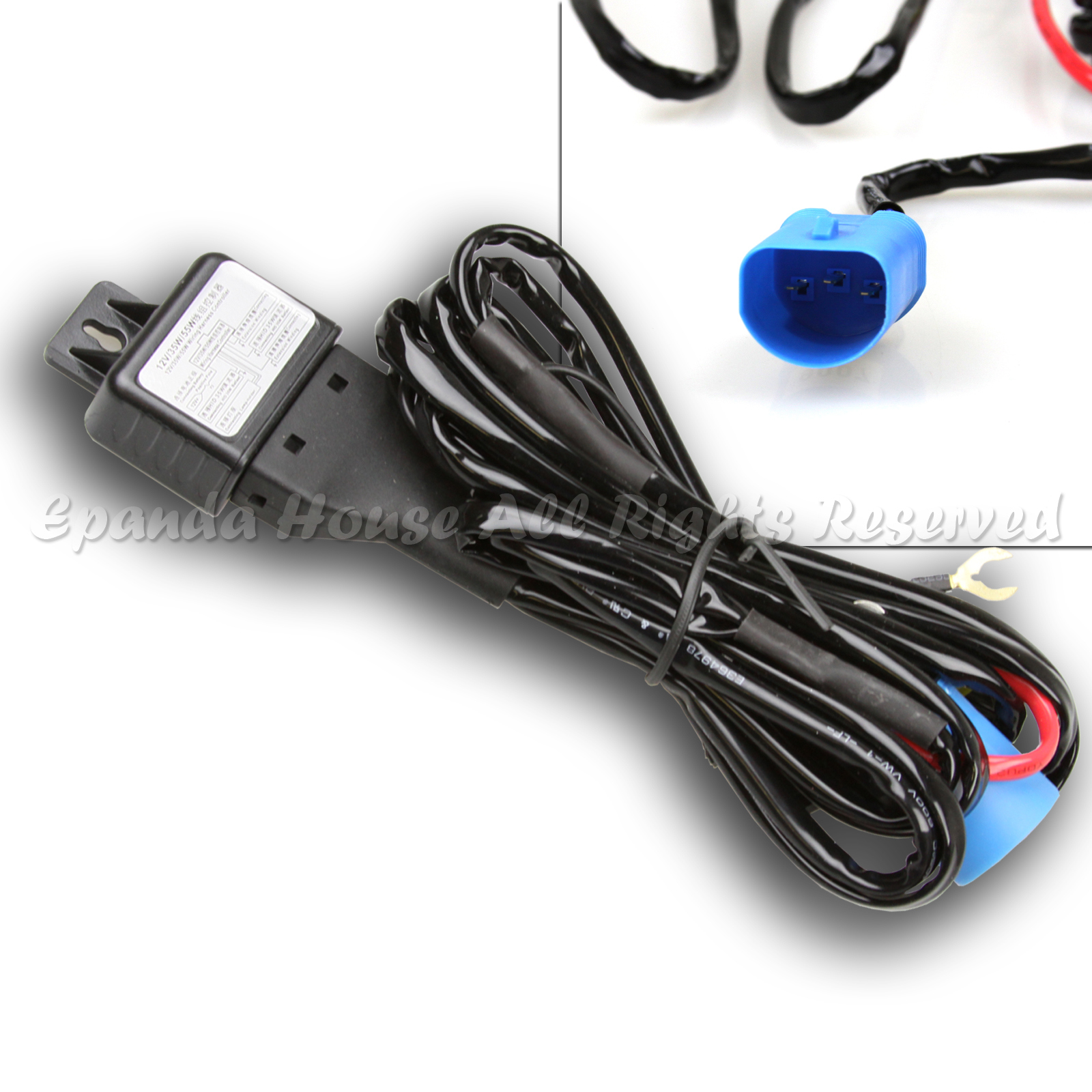 hight resolution of 1 x premium 9007 bi xenon hid relay harness wiring fuse hi lo beam hi lo hid 9007 wiring harness