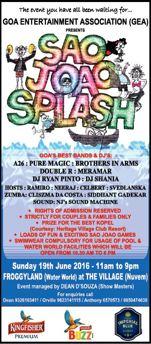 Sao Joao Splash - Froggyland at The Village, Nuvem, Goa