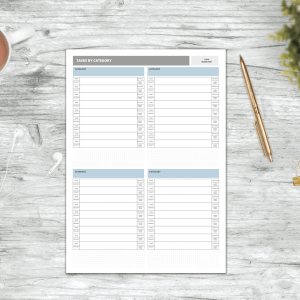 A4 Category To-do Pad – Pack of 6