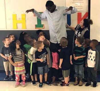 Givens students learn about big and little