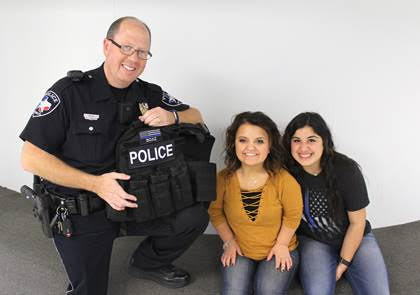 School Resource Officer Receives Vest from Students