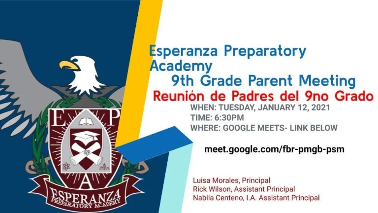 9th Grade Parent Meeting 1-12-2021