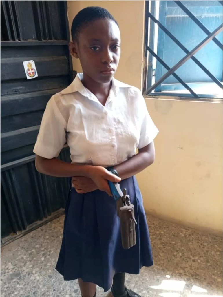 Female student who stormed her school with locally made gun to kill her teacher confesses she's a cultist
