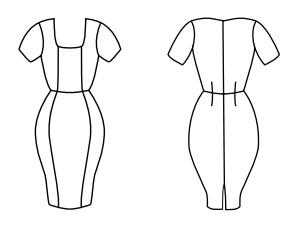 Платье-футляр бесплатная выкройка