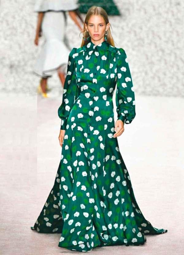 Бесплатная выкройка платья Carolina Herrera