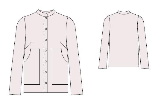 Бесплатная выкройка льняной блузки милитари