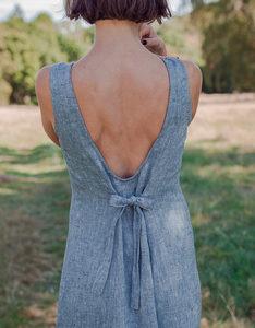 Выкройка макси-платья с открытой спиной