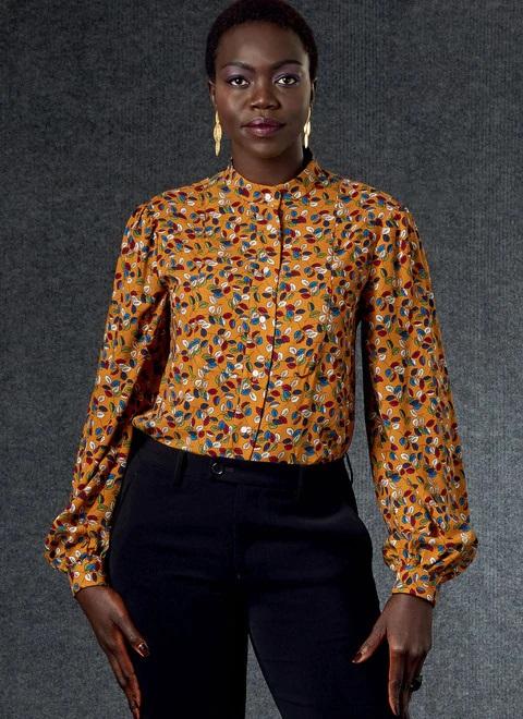 Блузка с пластроном