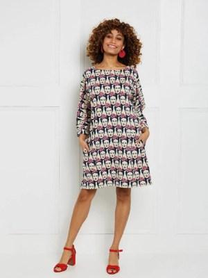 Трикотажное платье-туника