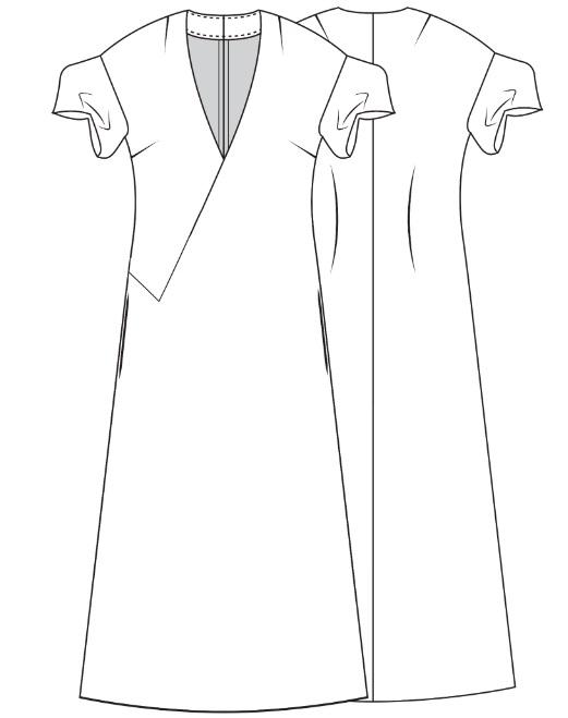 Платье в стиле кимоно