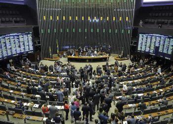 Plenário da Câmara dos Deputados durante sessão conjunta do Congresso Nacional para análise de vetos presidenciais e votação da revisão da meta fiscal. Foto: Waldemir Barreto/Agência Senado