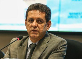 O ministro do Meio Ambiente, Edson Duarte durante a reativação da Comissão Nacional de Combate à Desertificação.