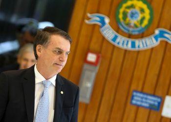 O Presidente eleito Jair Bolsonaro, fala com a imprensa após reunião com os futuros comandantes das Forças Armadas, no Comando da Marinha, em Brasília.  Foto: Marcelo Camargo/Agência Brasil