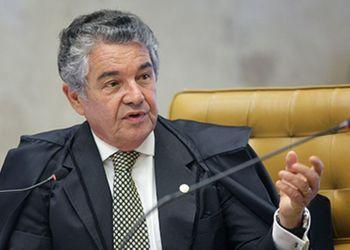 Brasília  - Ministro do STF, Marco Aurélio Mello, durante julgamento da ação que pretende impedir parlamentares que são réus em ações penais ocupem a presidência da Câmara dos Deputados ou do Senado (Nelson Jr./SCO/STF)