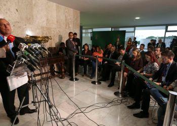 Entrevista, coletiva, ministro, Casa Civil, Eliseu PAdilha, Onyx Lorenzoni